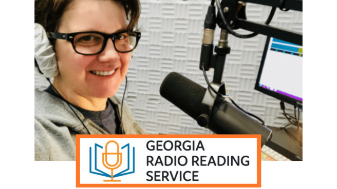 Brownieland Pictures Robyn Kranz volunteers with Georgia Radion Reading Service