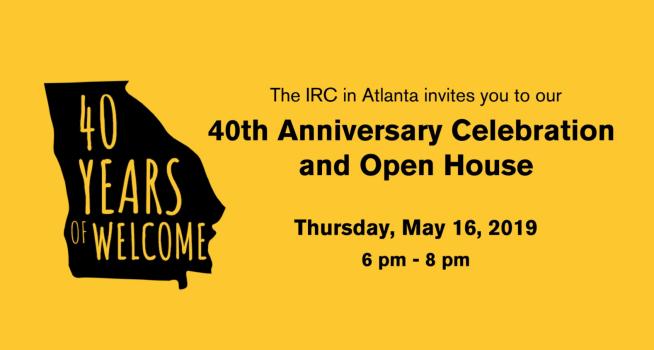 International Rescue Committee Atlanta Celebrates 40 Years!