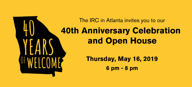 International Rescue Committee Atlanta Celebrates 40 Years!