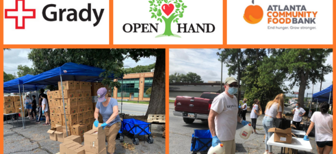 Brownieland Pictures Volunteer Project with Grady Health, Open Hand Atlanta and Atlanta Community Food Bank
