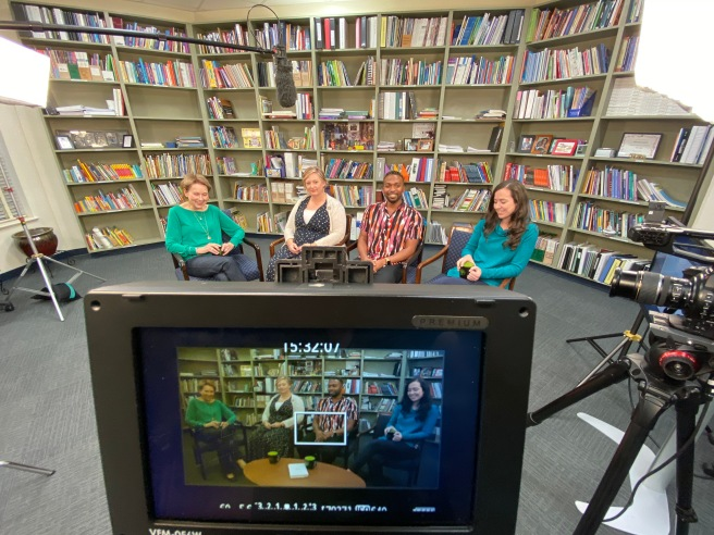 Behind-the-Scenes at the filming of the Atlanta Speech School's Virtual Bookstudy of Dr. Maryanne Wolf's book, Reader, Come Home.