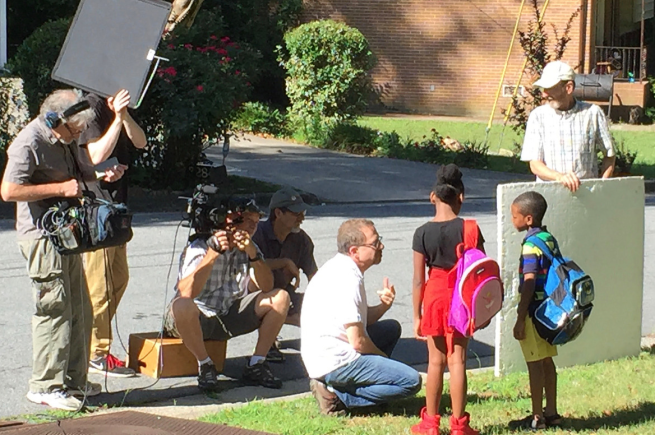 Brownieland's Director of Photography, Randy Frostig, works with the wonderful young talent in the compelling Atlanta Speech School video.